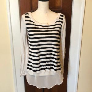Express Open Back Sweater with Sheer Tank